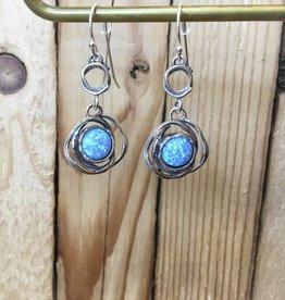 Shablool Sterling Silver Opal Earring
