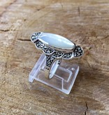 Larus Marcasite and Shell Mother of Pearl Ring