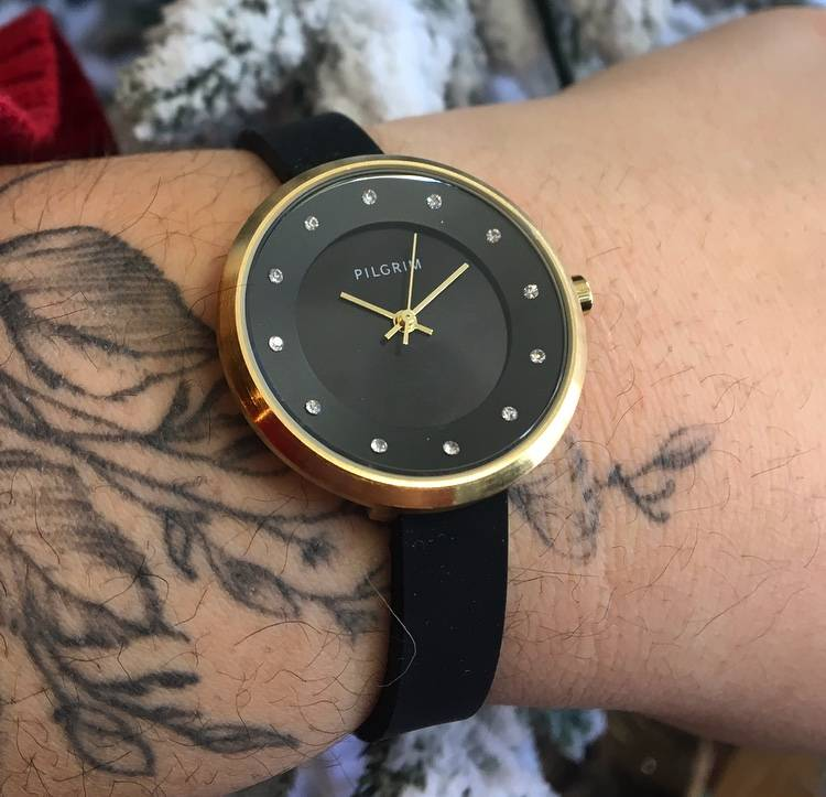 Pilgrim Amy Watch-Gold/Black