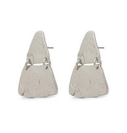 Pilgrim Marley Pyramid Silver Earrings