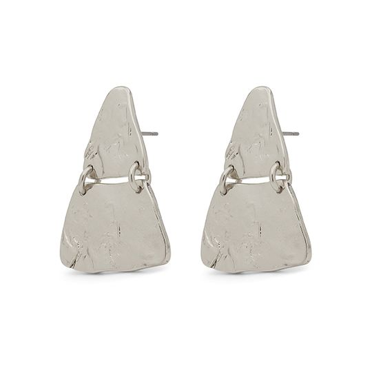 Pilgrim Marley Pyramid Silver Earrings