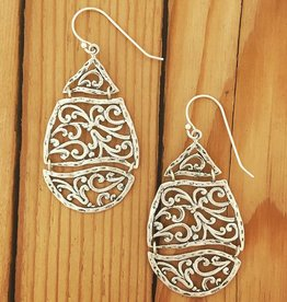 Shablool Sterling Filigree Teardrop Earring
