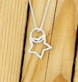 "Valerie Davidson Sterling Star Pendant on 18"" Chain"