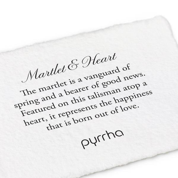"""Pyrrha Pyrrha Martlet and Heart 20"""""""