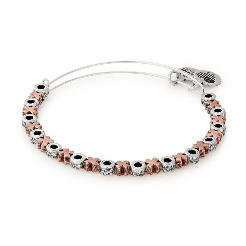 Alex and Ani XO Beaded EWB, Two Toned, RS