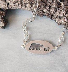 Olive Cedar Mama w 1 Cub Bracelet