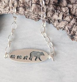 Olive Cedar Mama w 3 Cubs Bracelet
