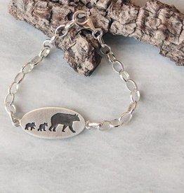 Olive Cedar Mama w 2 Cubs Bracelet