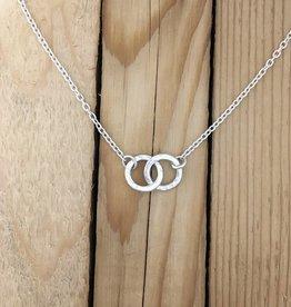 Olive Cedar Olive Cedar, two hamered rings Necklace