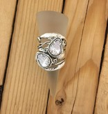 Shablool Large Double CZ Ring Sz 8