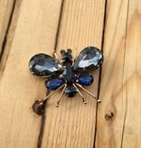 Grey Crystal Bug Pin