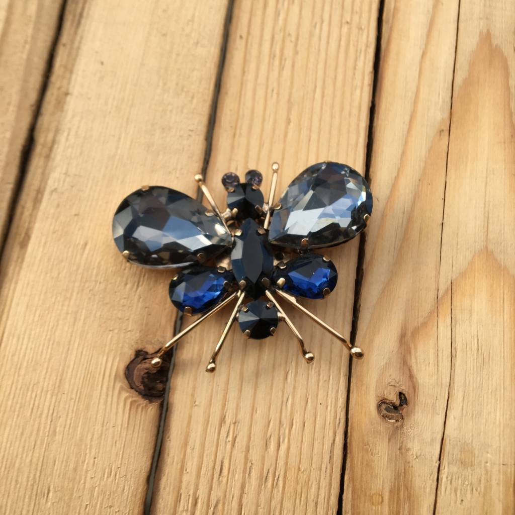 Only Accessories Grey Crystal Bug Pin