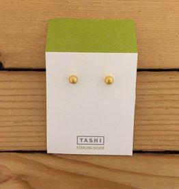 Tashi Tiny Shiny Gold Ball Stud