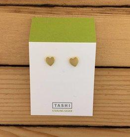 Tashi Shiny Gold Heart Stud