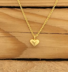 Tashi 14K Gold Vermeil Tiny Heart Necklace 16-18""