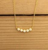 """Tashi 14 kt Gold Vermeil CZ Row Necklace 16-18"""""""