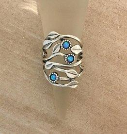 Shablool Vine Ring w Opals Sz 6