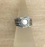 Shablool Sterling Ring w Pearl Sz 7