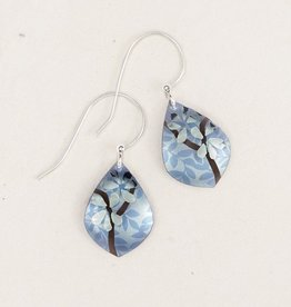 Holly Yashi Blue Orchid Bloom Earrings