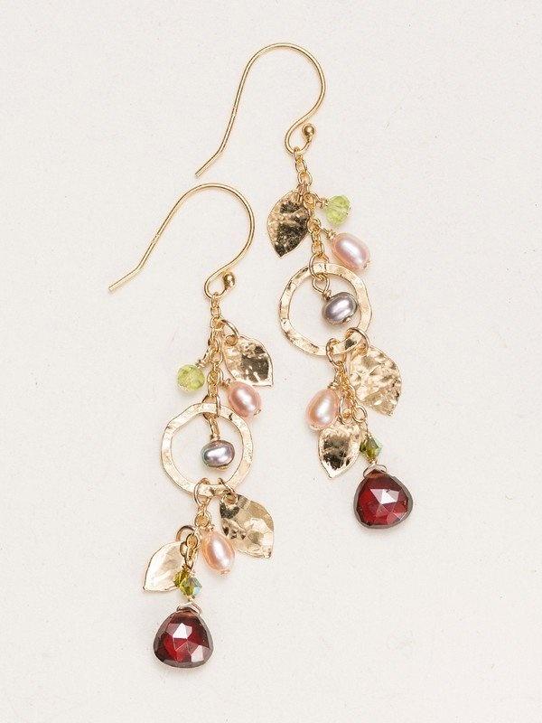Holly Yashi Pomegranate Fairy Garden Drop Earrings