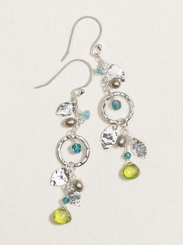 Holly Yashi Torrid Green Fairy Drop Earrings