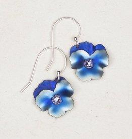 Holly Yashi Blue Pansy Earrings