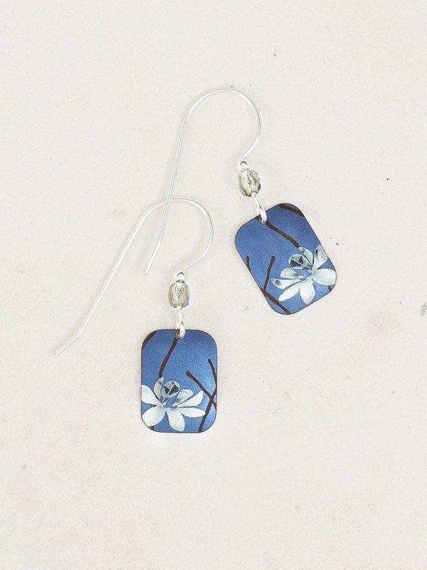 Blue Blooming Lotus Earring