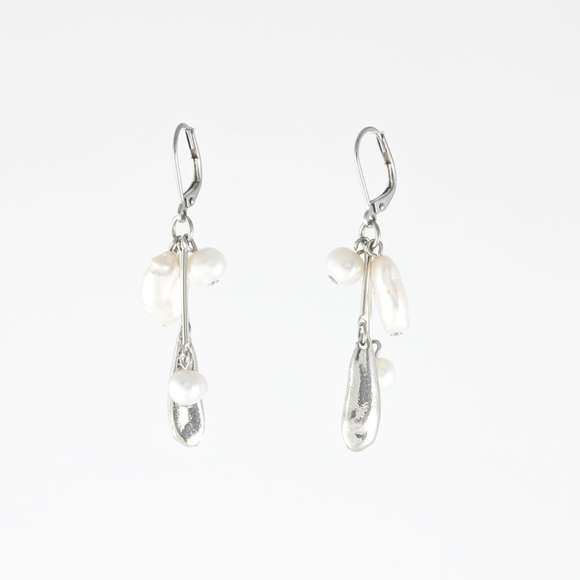 Anne Marie Chagnon Phoebe Earring - Pewter