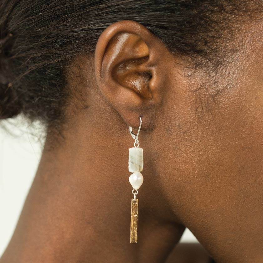 Anne Marie Chagnon Pollie Earring- Brume Mist