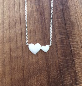 Tashi Silver Big and Little Hearts Necklace