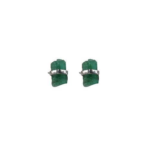 mimi + marge mimi + marge- Emerald Wrap Stud