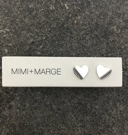 mimi + marge Madu Heart Studs
