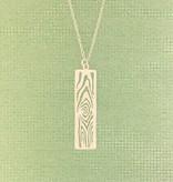 Tashi Silver Cut-out Woodgrain Necklace