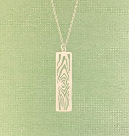 Tashi Silver Cut-out Woodgrain Necklace