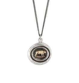 Pyrrha Pyrrha 14k Gold on Silver Mother Bear- 18""