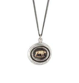 "Pyrrha Pyrrha 14k Gold on Silver Mother Bear- 18"""