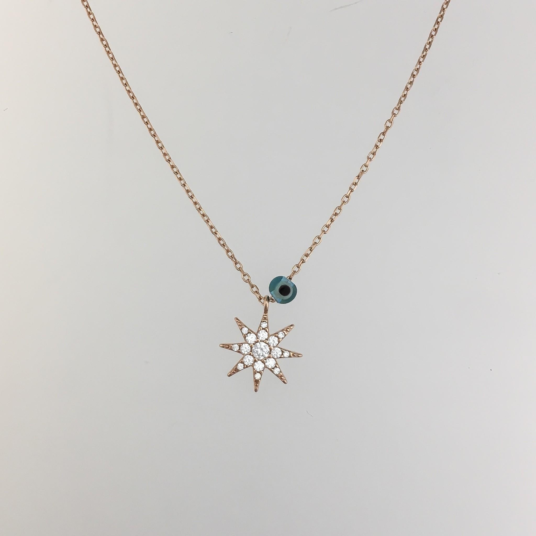 Kurshuni Jewellery Rose Gold Star Necklace