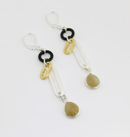 Elizabeth Burry Desgins DYLAN Earring- Golden Rutilated Quartz