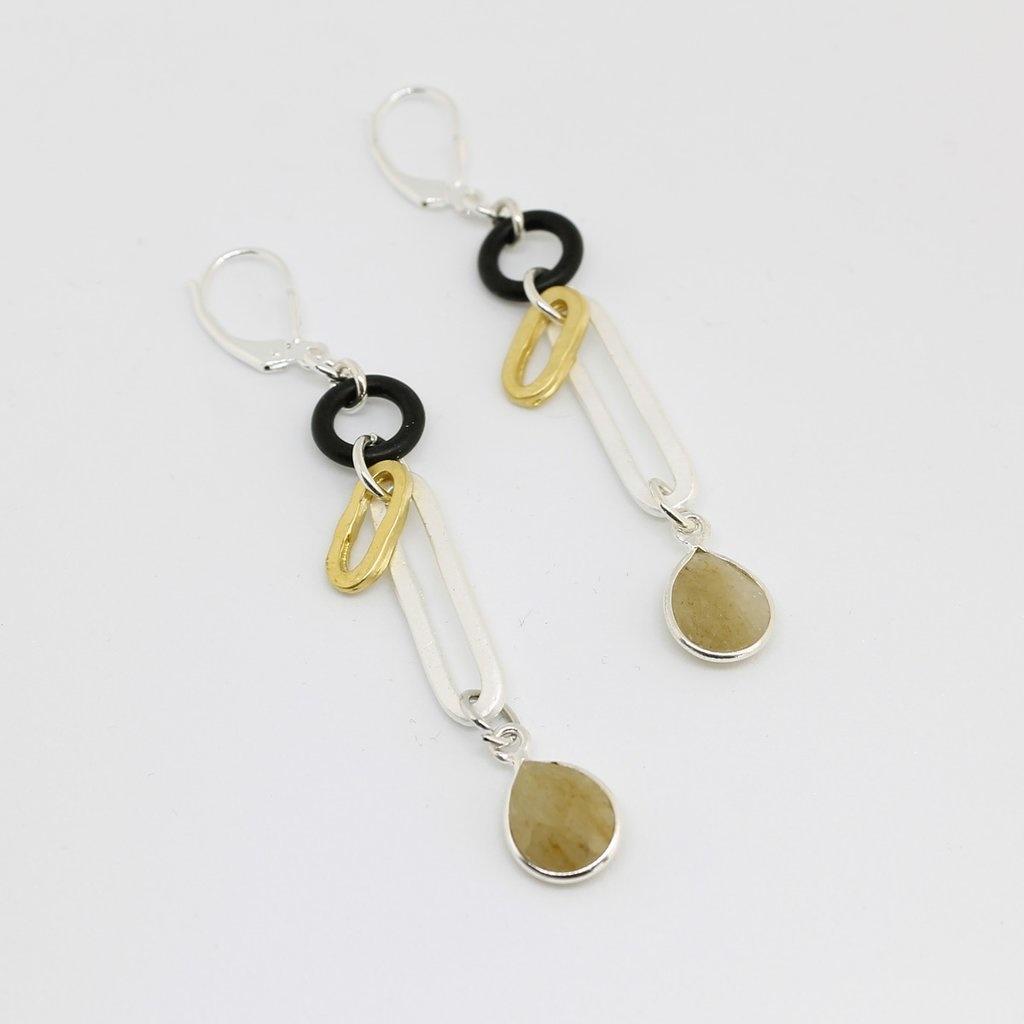 DYLAN Earring- Golden Rutilated Quartz