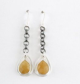 Elizabeth Burry Desgins JULIE Earring- Golden Rutilated Quartz