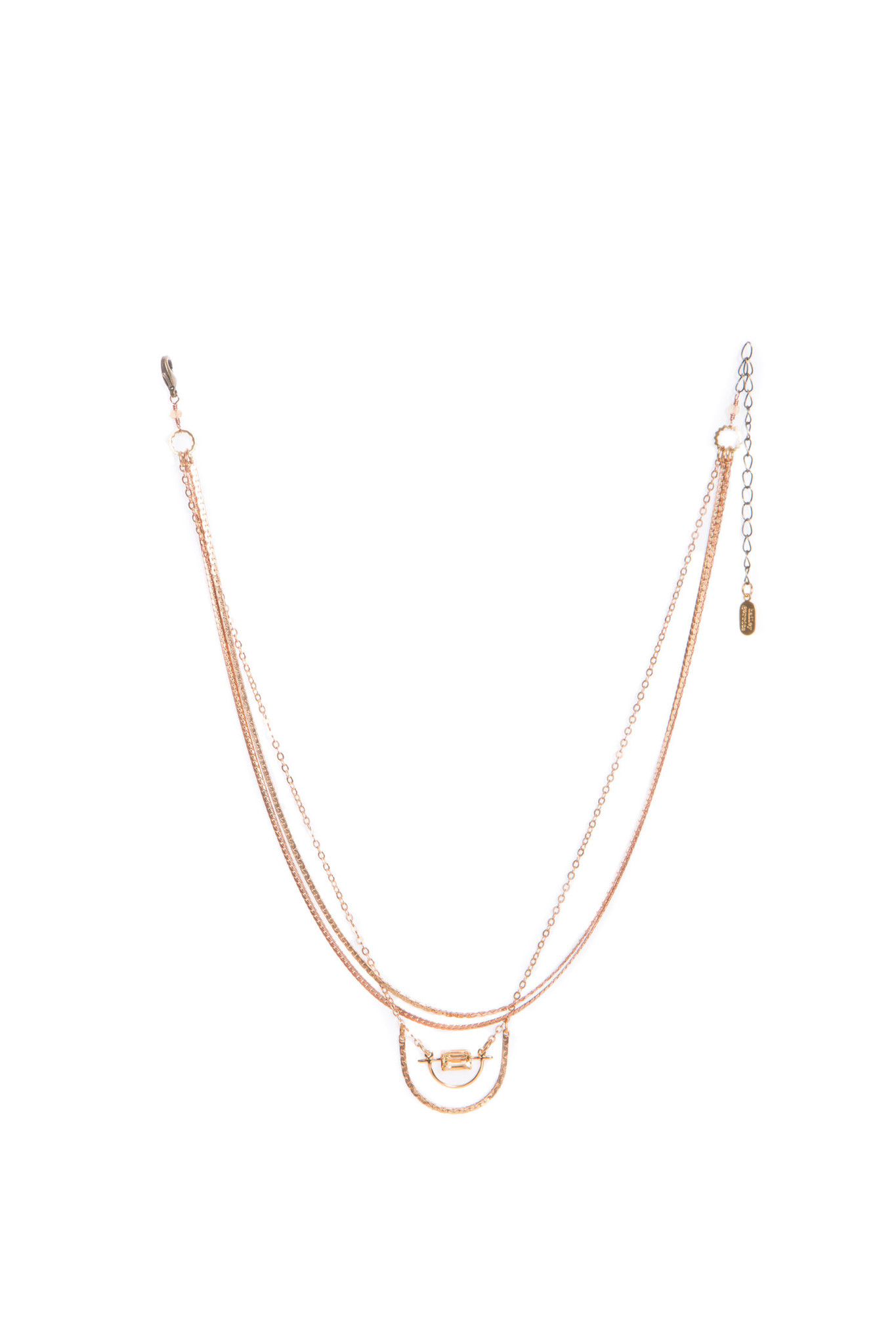 Hailey Gerrits Horizon Necklace- Citrine