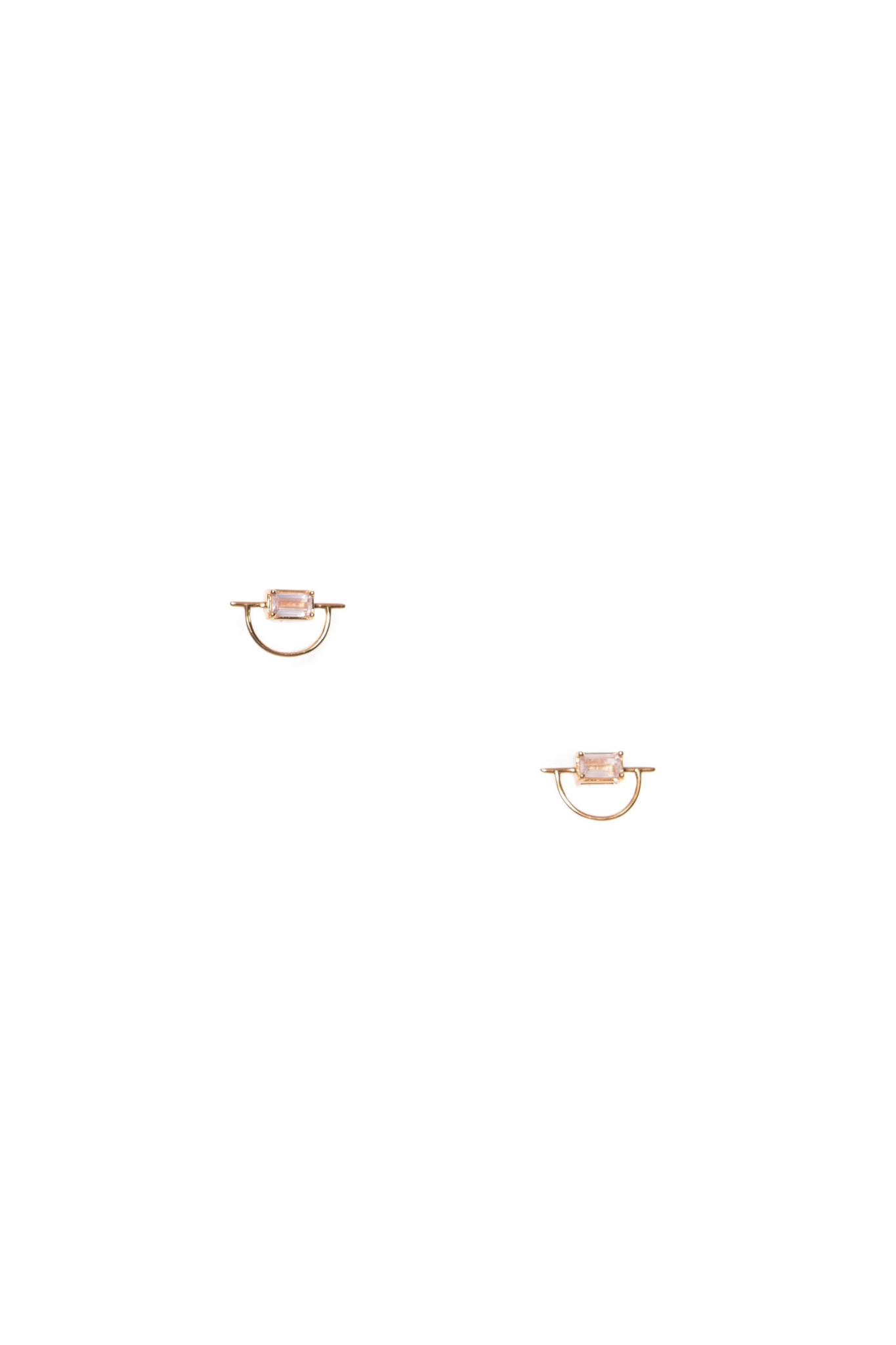Hailey Gerrits Horizon Earrings- Rose Quartz