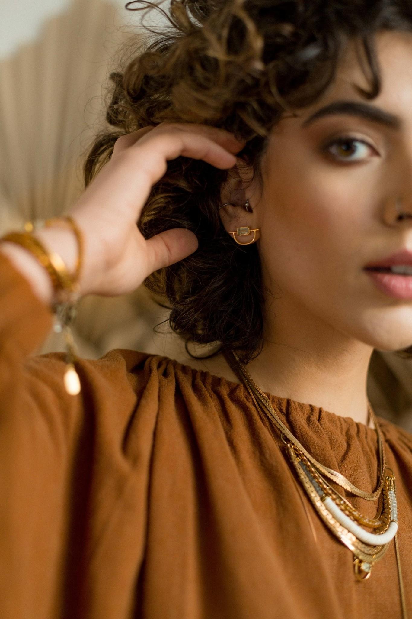 Hailey Gerrits Horizon Earrings- Citrine