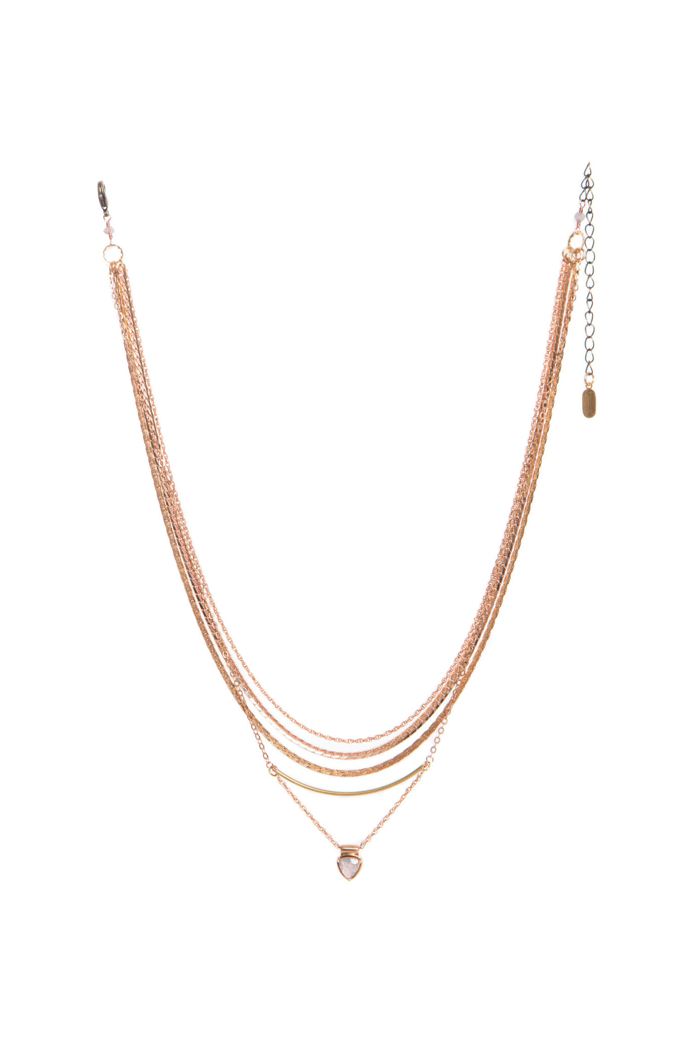Hailey Gerrits Trillion Necklace- Labradorite