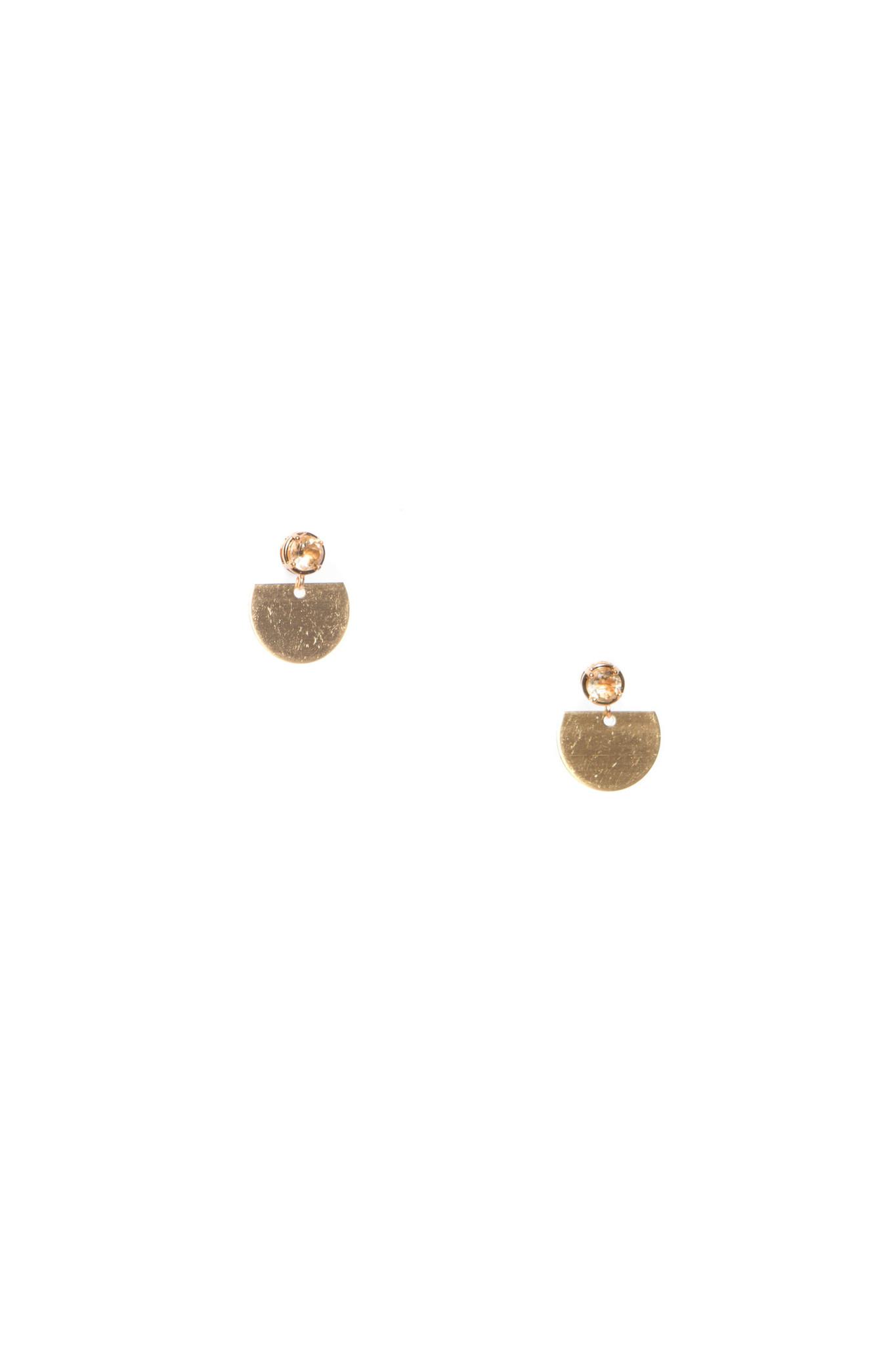 Hailey Gerrits Sun Earrings- Citrine