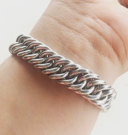 Large Sterling Silver Curb Bracelet