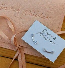 Sarah Mulder Muse Stud Earring- Silver // Moonstone