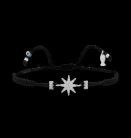 Kurshuni Jewellery North Star Cz Black Pull Cord