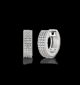 Kurshuni Jewellery Silver Cz Huggies