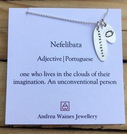"""Andrea Waines Andrea Waines Necklace- Nefelibata 18"""""""